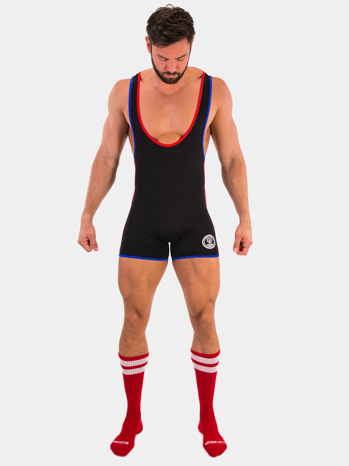 Barcode Berlin Singlet Allan, schwarz rot blau, blau, blau, 91580 160, gay, sexy, BRANDNEU      Economy  12da5d
