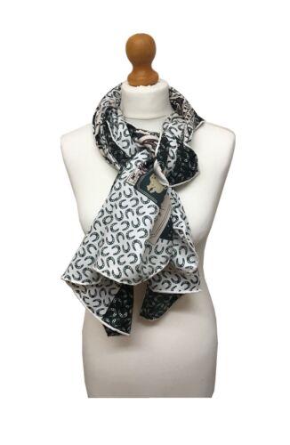 Stylish Lady 100/% Silk Oversized Horses Print Scarf Shawl