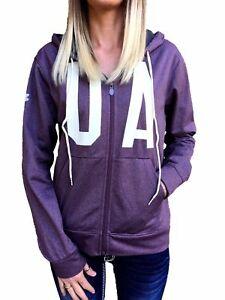 f49ea8be65 Details about UNDER ARMOUR Coldgear Graphic Logo Hoodie Sweatshirt Purple  Heather Grey M L XL