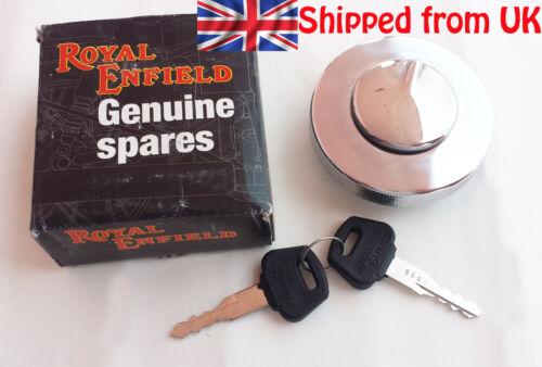 BRAND NEW ROYAL ENFIELD PETROL// FUEL TANK CAP LOCK WITH KEY SET # 597128