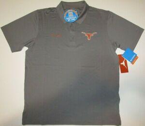 New Texas Longhorns Columbia Omni Shade PFG fishing polo golf shirt men's sizes