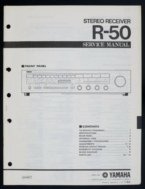 Yamaha R Diagram  Parts List O145