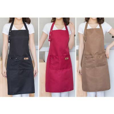 2 Pockets Apron Butcher Crafts Baking Chefs Kitchen Cooking BBQ Red//Black//Brown