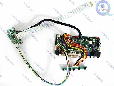 HDMI+VGA+DVI LCD Control Board Converter Kit for eDP Panel B156HTN03.1 1920X1080