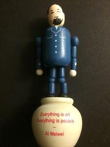Royal Academy 2015 Push up wooden Toy Figure Sculpture Ai Weiwei