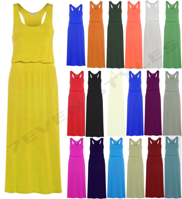 WOMENS TOGA MAXI LONG VEST DRESS LADIES PUFF BALL RACER BACK MAXI SIZE 8-14