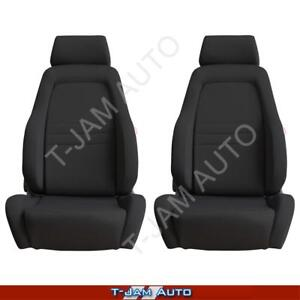Adventurer 4x4 4WD Bucket Seat Pair 2 x Black Cloth ADR Approved Nissan Patrol