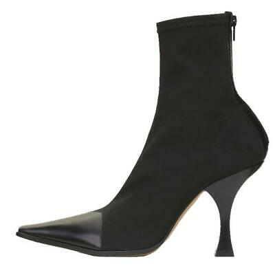 Ladies Sock Ankle Boot Women Triangle Shoes Pull On Pointed Toe Winter Ball Heel