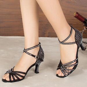 d56ec853 ENVÍO GRATIS. La imagen se está cargando Mujeres-Zapatos-Tacon-De-Salsa -Bachata-Latinos-Baile-