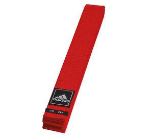 adidas Gürtel rot Judo Karate Ju-Jutsu Taekwondo - 40 mm - Budogürtel