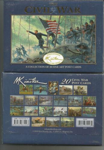 MORT KUNSTLER THE CIVIL WAR A COLLECTION OF 20 FINE POST CARDS NEW