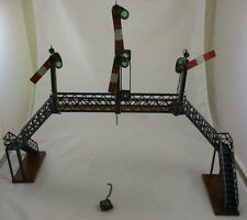 RARE Vintage Original PreWar Marklin Train Crosswalk Signal Bridge Tin Toy Bing