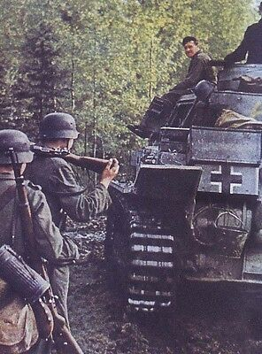 COLOR WWII Photo WW2 German Panzer Mk IV and K98 Mausers World War Two Wehrmacht