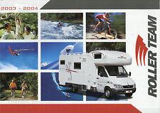Prospekt Roller Team Reisemobile 2003 2004 Broschüre Wohnmobil I F D GB brochure