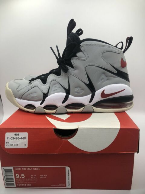 Nike Air Max CB34 Charles Barkley Mens Shoes Gray White 414243 003 Size 10 NWT