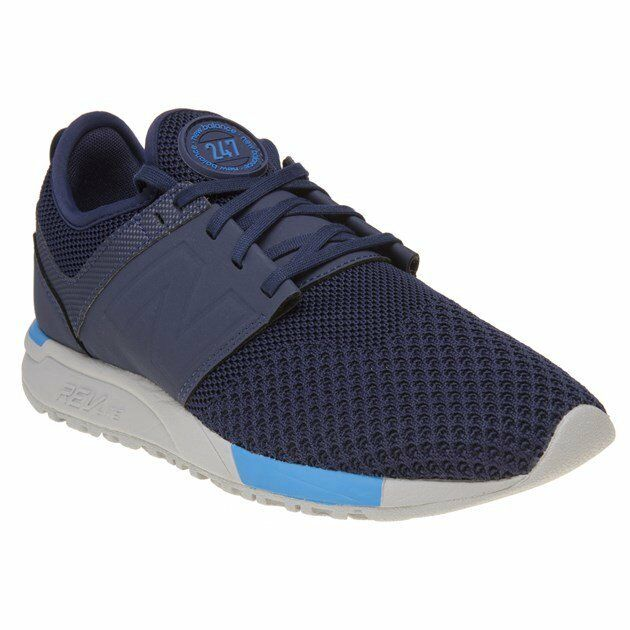 New  Trainers Uomo New Balance Blau 247 Nylon Trainers  Retro Lace Up 0cbef7