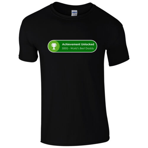 Fathers Day Gift One Dad Top Achievement Unlocked World/'s Best Daddy T-Shirt