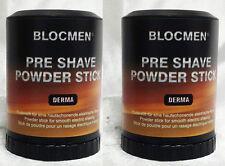 SAVE! TWO PRE-SHAVE POWDER STICK DERMA BLOC - BY BLOCMEN