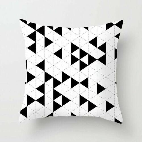 Black /& White Geometric Throw Cover Pillow Cushion Square Case Decor Dazzling