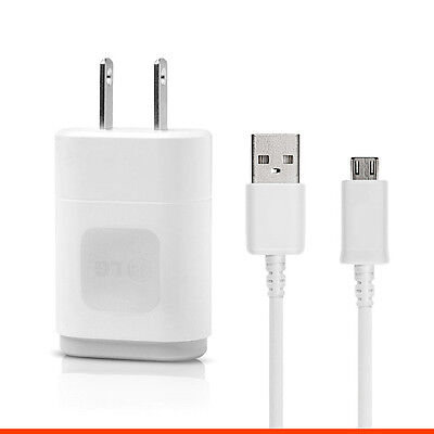 Original LG Wall Home Travel Charger 1.2A USB Data Cable for LG G2 G3 Flex