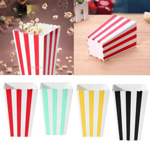 12-x-Set-Popcorn-Striped-Paper-Boxes-Container-Box-Favour-Bags-Birthday-Sipplies