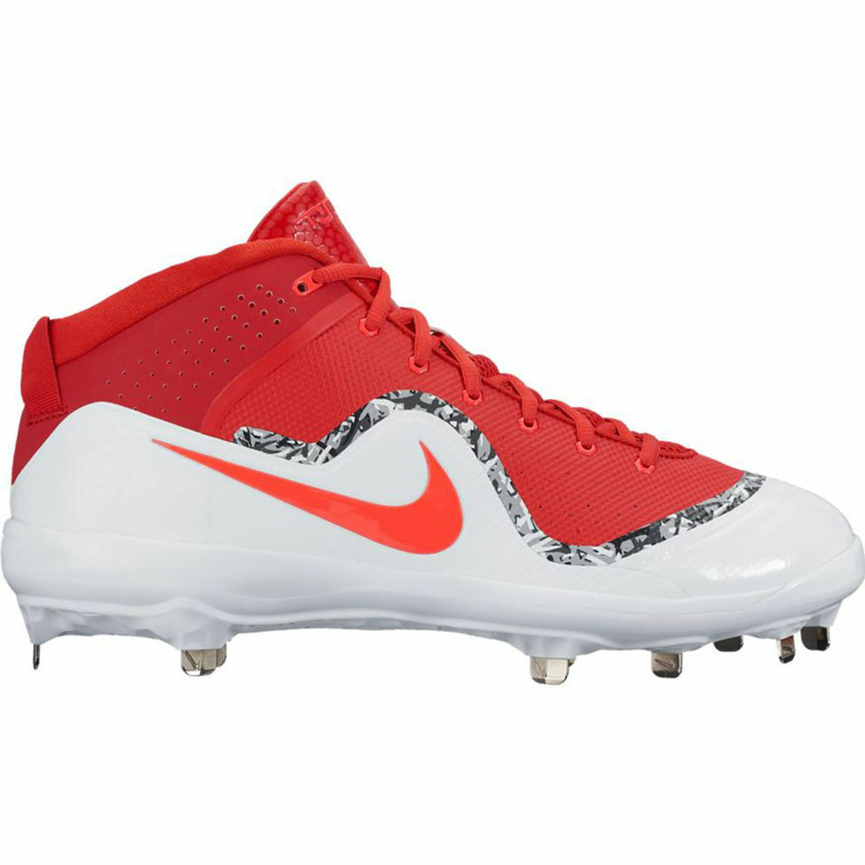 1a9776add4c NIKE FORCE AIR TROUT 4 PRO METAL BASEBALL CLEATS MEN S SIZE 10 RED AND WHITE