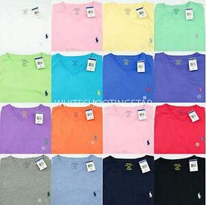 10 fit Ralph pony veel V standaard Heren Polo Nwt Lauren met T hals shirt qgwTR8T5