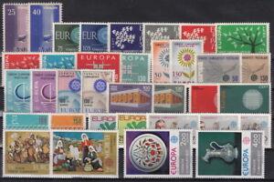 CEPT-Ausgaben-TURKEI-bis-80er-Jahre-postfrisch-MW-53-2Y-124-2