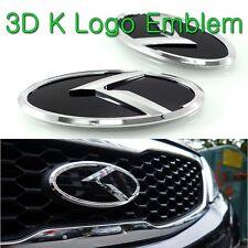 (Fit: KIA 2014-2017 Forte Koup, K3 Koup, Cerato Koup) K Logo 3D Emblem 3pc Set