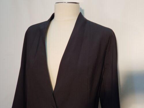 Uld Sort Kvinders Størrelse Button Euc Viskose One Jakke Eileen Fisher Blend 16 1qSO77