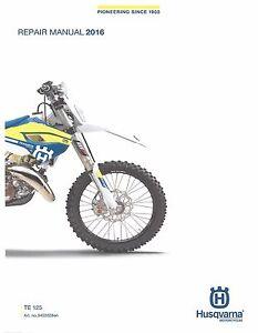husqvarna workshop service manual 2016 te 125 ebay rh ebay com