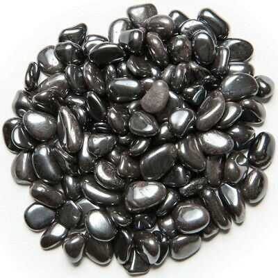 XXSmall Grade 1 2 lb Black Onyx Tumbled Stones Bulk Craft Rocks Reiki