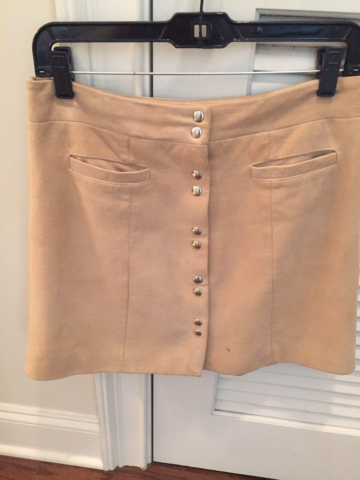 Intermix Suede Mini Skirt Size Medium
