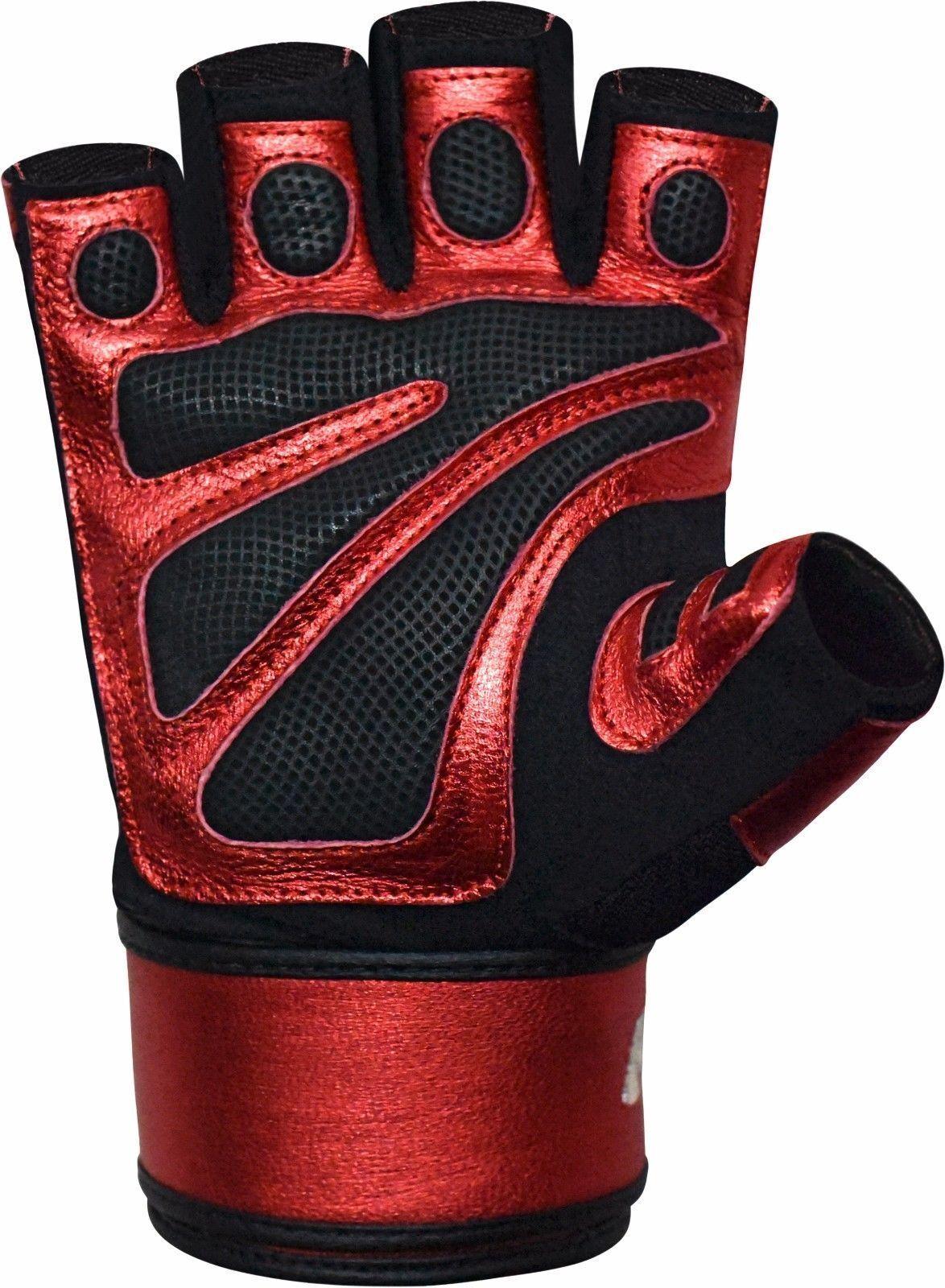 RDX Sporthandschuhe handschuhe Fitness Gloves Gewichtheffen handschuhe Sporthandschuhe Gym Workout ROT 2XL c0efcd