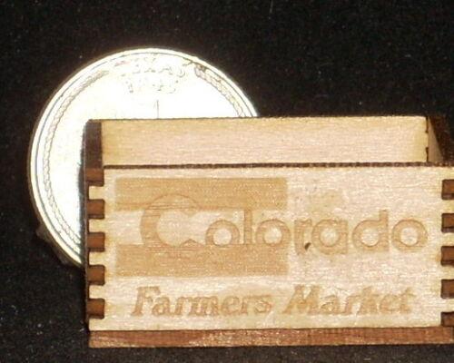 Store Market Dollhouse Miniature Colorado Produce Crate 1:12 Scale Farm Food