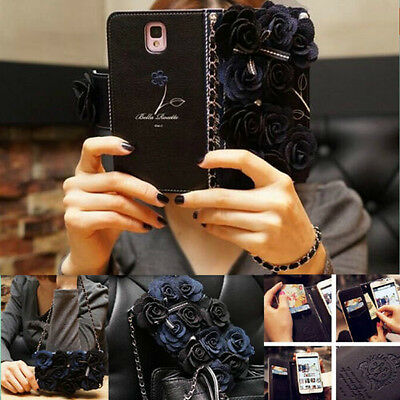 Luxury Wallet Chain Cover Flip Leather Case Card Holder Pouch For Apple iPhone