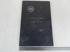 UNICO: MANUALE USO MANUTENZIONE ORIGINALE LANCIA LAMBDA 1923 1924
