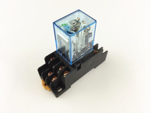 MY3NJ 12VDC 24VDC 110VAC 220VAC Coil Power Relay HH53P 11 Pin 3NO 3NC 5A 250VAC