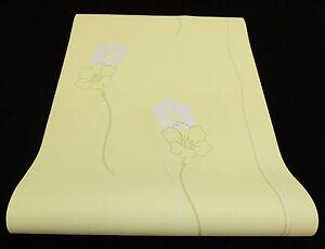 """05183-60 -) 3 Rouleaux Toile Papier Peint """"lacantara"""" Fleurs Design Vert Gris + Brillance-afficher Le Titre D'origine"""