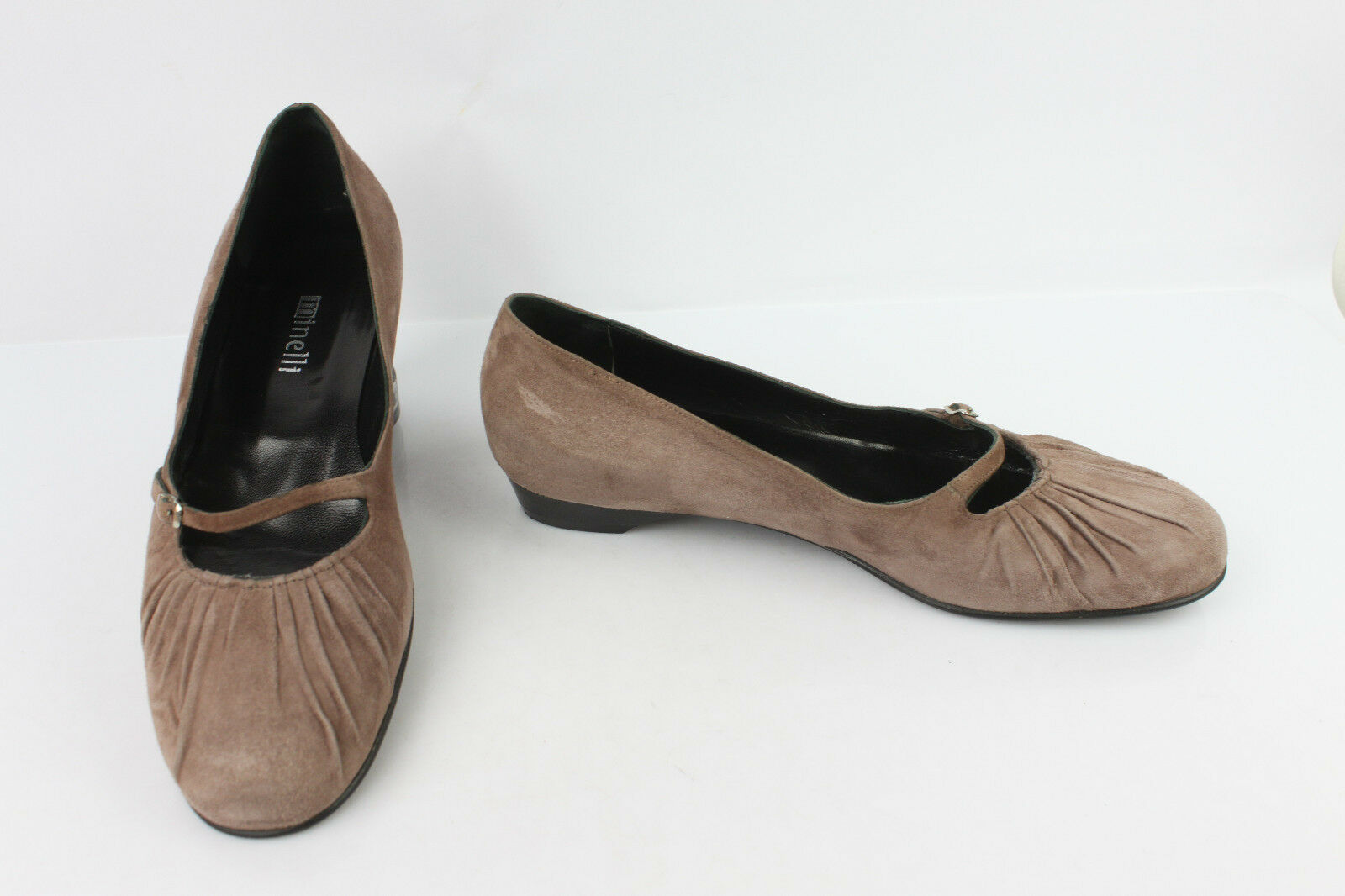 Ballet flat Babies MINELLI Leather Suede Taupe Mauve T 40   41