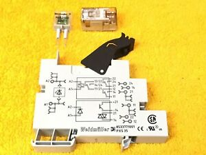 NEW WEIDMULLER PXS 35 TERMINAL BLOCK with RELAY RCL424024 eBay