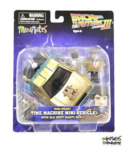 Retour-vers-le-futur-Minimates-Rail-Pret-time-machine-avec-Cowboy-Marty-McFly