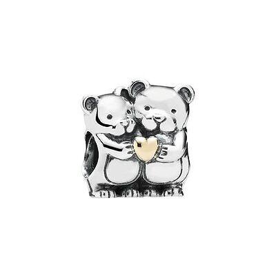Pandora Charm Bear Hug Authentic Two Tone - 791395
