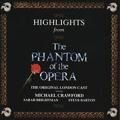 Highlights From The Phantom Of The Opera CD NEW SEALED Original London Cast