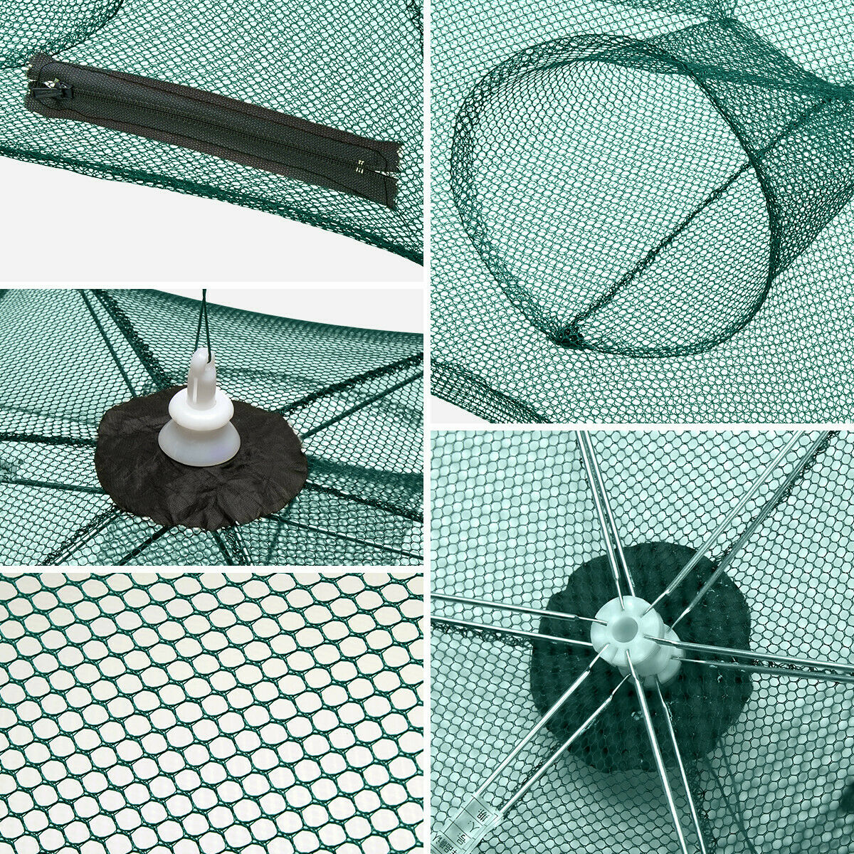 Foldable Fishing Trap Crab Net Cast Cage Minnow