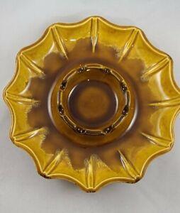 Mid Century Modern Haeger Drip Glaze Ashtray/ Trinket - Serving Bowl