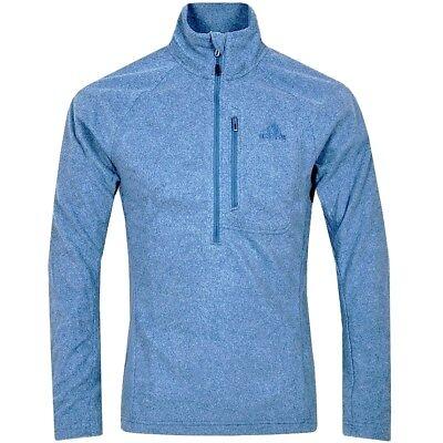 Adidas Reachout 1/2 Zip Polar Fleece Pullover Herren Wandern Outdoor Jacke Blau Attraktive Mode