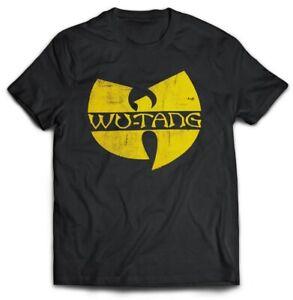Wu-Tang-Clan-039-Distressed-Logo-039-T-Shirt-Official-Wu-Tang-Merch