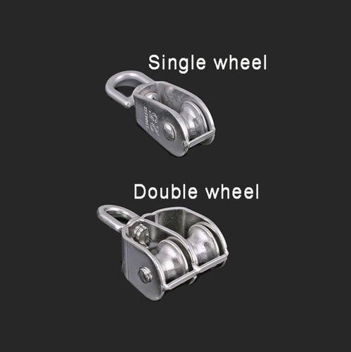 Doppelrad Drahtseil Umlenkrolle Blockseilrolle Flaschenzug Seilrolle Einzel-