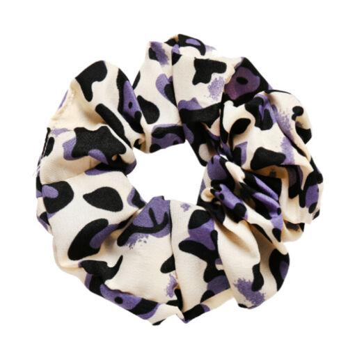Spring Flower Scrunchie Ponytail Holder Hair Ties Rope Elastic Hair Band Gift